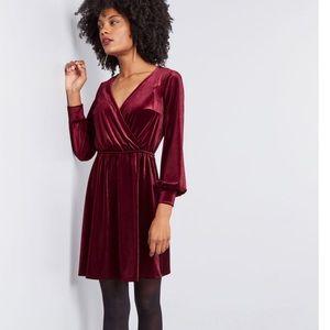 ModCloth Velvet Dress (NWOT)